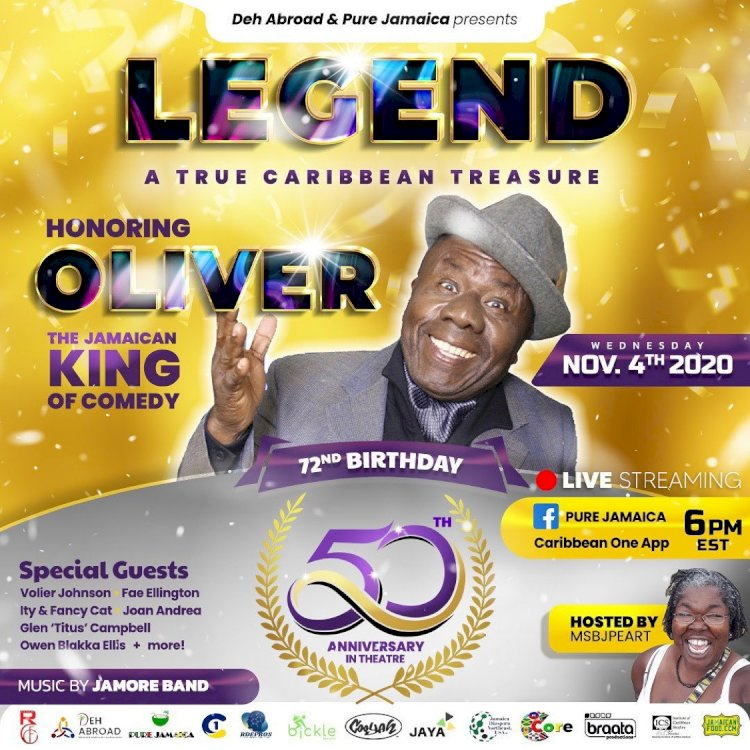 Jamaica's King of Comedy, Oliver Samuels to be Celebrated by Jamaican Arts and Culture Fraternity!