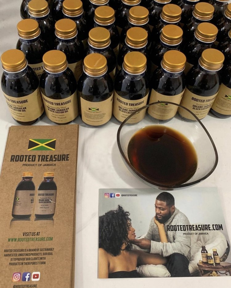 Organic Pure Jamaican Black Castor Oil by Rooted Treasure