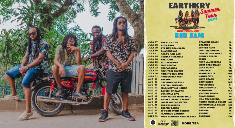 After A Sedentary Year, Jamaica's Most Touring Self-Contained Reggae Band EarthKry is Back On The Road!