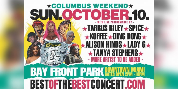 BEST OF THE BEST CONCERT RETURNS FOR COLUMBUS DAY WEEKEND IN MIAMI FLORIDA