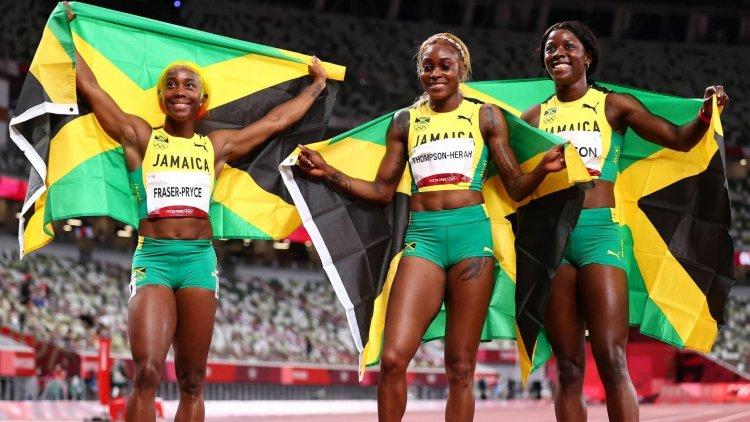 Clean Sweep For Jamaica In Women's 100m Tokyo Finals 2021